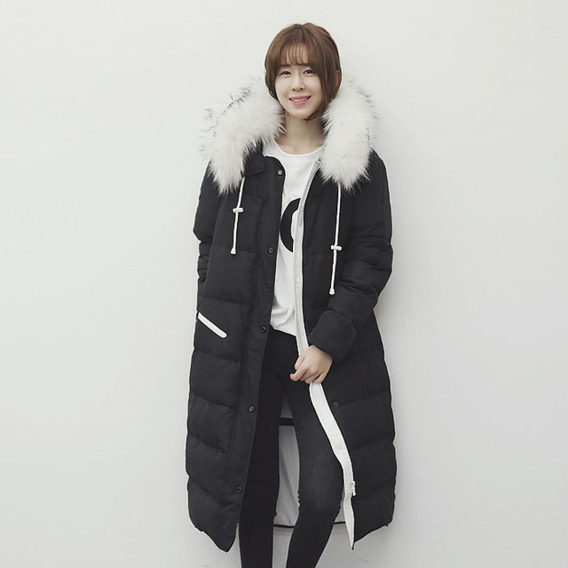 winter new women's down coat fashion long style Slim Down parkas parka hooded jacket women cotton overwear