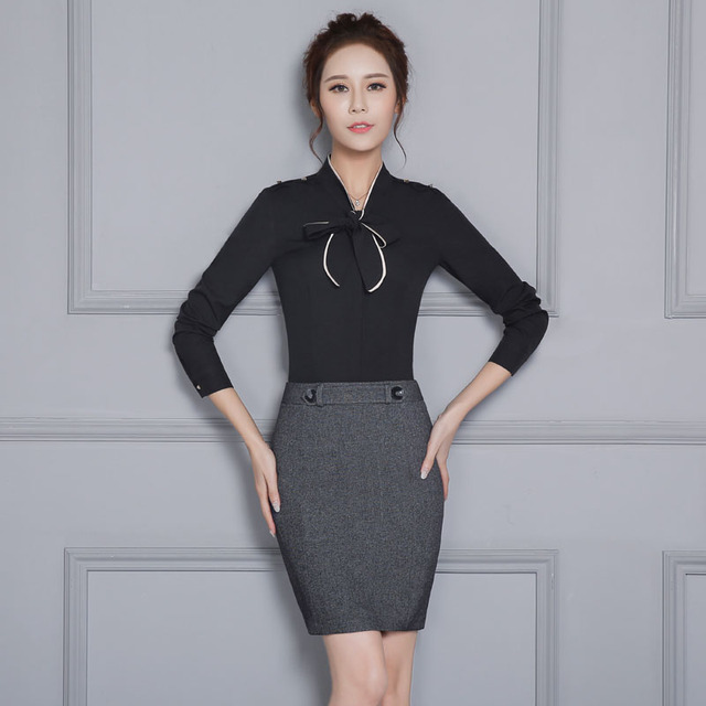 New Professional Work Wear Suits With Tops And Skirt Formal OL Styles Spring  Autumn Ladies Office 8c75787f57b9