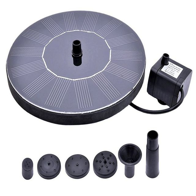 New Arrival 7V Floating Water Pump Solar Panel Garden Plants Watering Power Fountain Pool