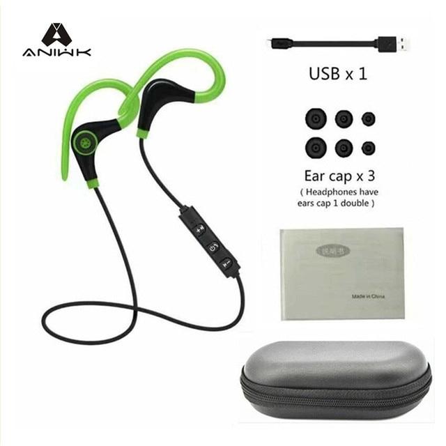 82fccb06c2e Aniwk 4.1 Auriculares Inalámbricos Bluetooth Headset Bluetooth Headset  Micrófono Auricular Auriculares Deportivos, para iphone android