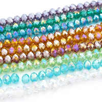 Venta al por mayor 2/3/4/6/8/10/12mm calidad superior 5040 cristal rondelle cuentas de vidrio color básico-AB Envío Gratis-2