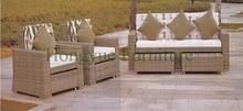 Brown garden rattan sofa set furniture with foot stool outdoor garden sofas