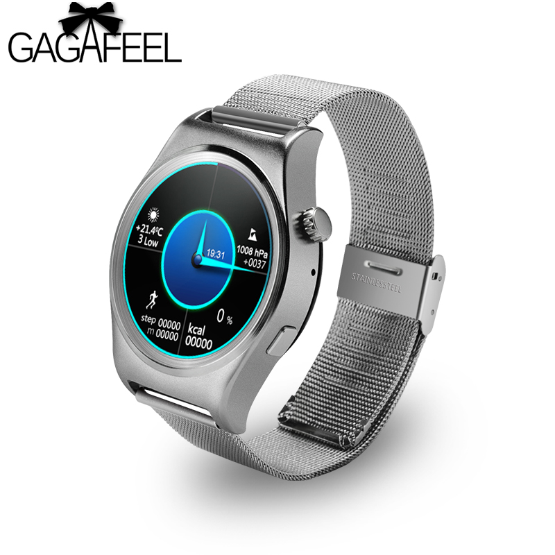 цена на Gagefeel Screen Multi UI Bluetooth 4.0 Smart Watch With Heart Rate Monitor Fitness Tracker Message Call Reminder for Android iOS