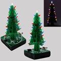 Novas Árvores De Natal 3D três cores led eletrônico kit diy para o presente de Natal/presente de Ano Novo