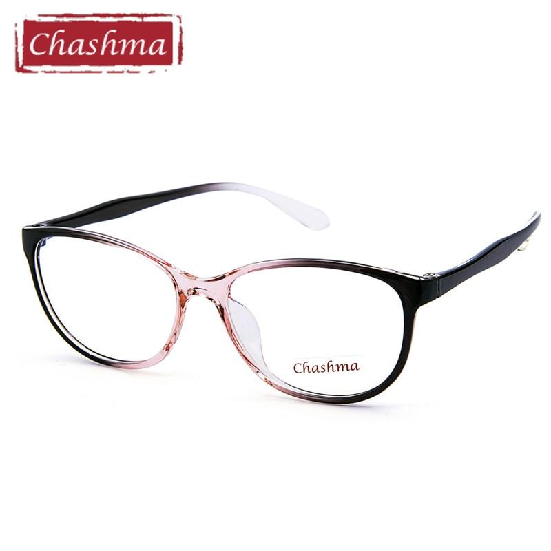 Chashma מותג TR 90 חתול עיניים סגנון אור משקפיים יין אדום משקפיים משקפיים סטודנט אופנה מרשם משקפיים מסגרת נקבה