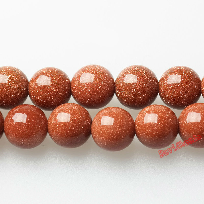 Free Shipping Natural Gold SandStone   Golden Sand Round Loose Beads 4 6 8 10 12 MM Pick Size For Jewelry  16
