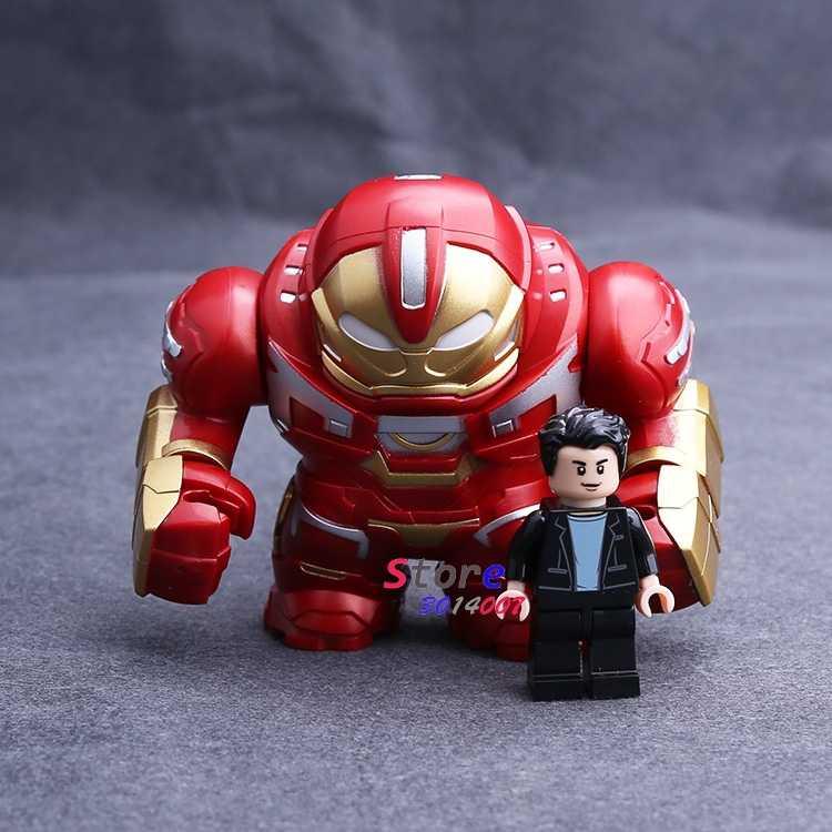 เดี่ยว Marvel Avengers Endgame KORG Thanos Iron Man Thor Hulk BUSTER เครื่อง IRONMAN War อาคารบล็อกของเล่นเด็ก