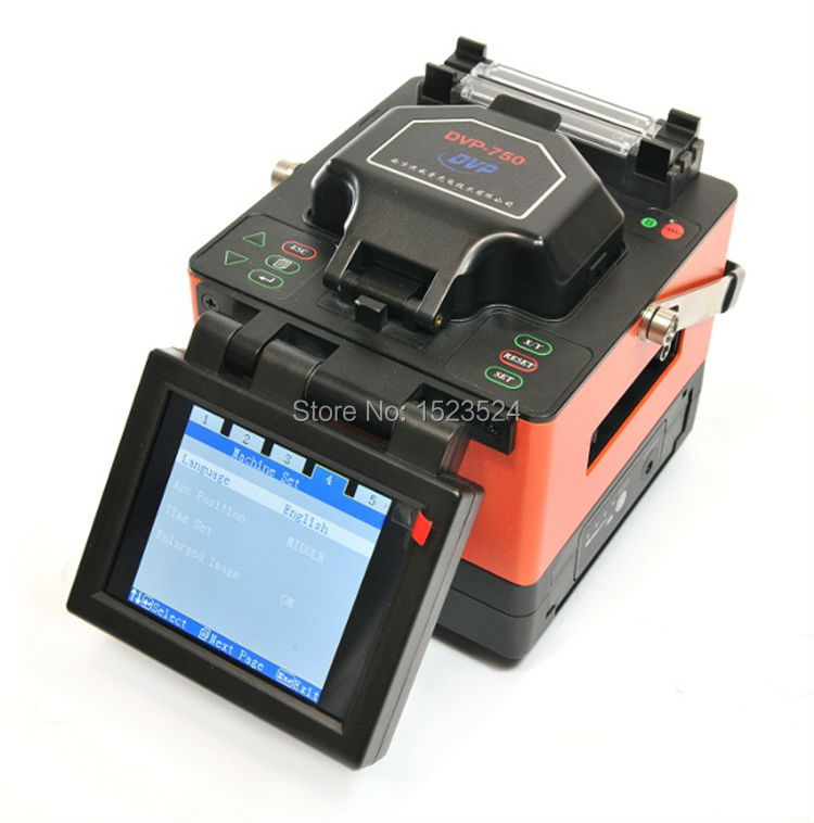 Free Shipping DVP-750 Multi-language FTTH Fiber Optic Splicing Machine Optical Fusion Splicer