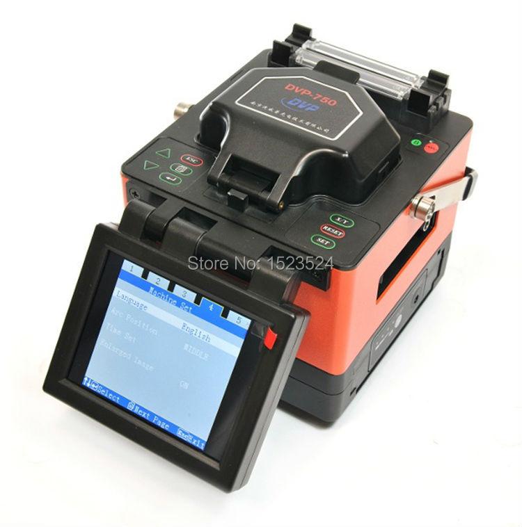 Безплатна доставка DVP-750 Многоезична FTTH оптична машина за сплайс оптичен синтез