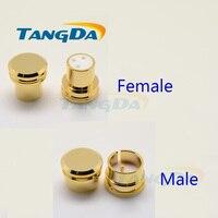 Tangda 소음 스토퍼 골드 도금 구리 XLR (G) 플러그 캡 XLR 보호 캡 신호 차폐 커버 보호 캡 F 남성/여성