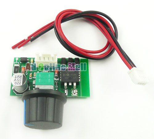 Dc motor pwm 12 24 36v 5a speed controller switch high for How to vary the speed of a dc motor