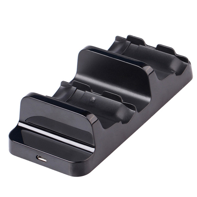 Black Dual Charging Dock Station With 2Pcs Battery for Xbox One Wireless Controller