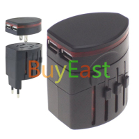 World Travel Wall Plug Adapter Dual Usb Works In Over 150 Countries