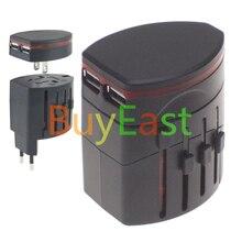 Двойная 2 Порта USB Путешествия Plug Адаптер Изменить ВЕЛИКОБРИТАНИЯ/ЕС/США/AU/Китай Plug Работает В более чем 150 Странах