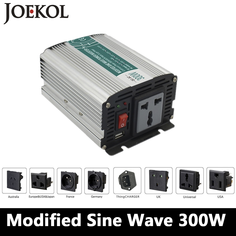 Smart Modified Sine Wave Inverter 300W CLP300A DC 12V 24V to AC 110V ...