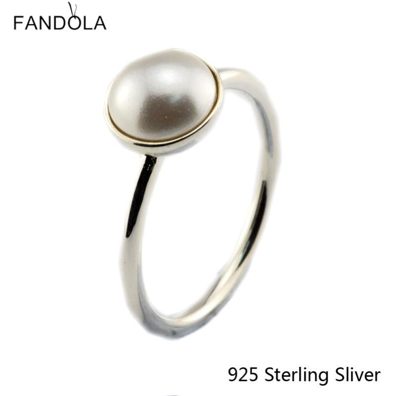 Ckk 925 sterling silber ringe für frauen leuchtende tropfen, weiß - Edlen Schmuck - Foto 2