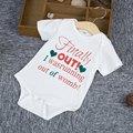 Bebê recém-nascido Roupas 100% de Algodão Macacão de Bebê Da Marca Letra Impressa de Manga Curta Bebê Macacão Playsuits Bonito Das Meninas Dos Meninos Romper
