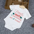 Newborn Baby Clothes 100% Cotton Brand Baby Rompers Short Sleeve Baby Jumpsuit Playsuits Cute Letter Printed Boys Girls Romper