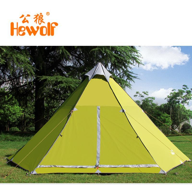 Hewolf yurt tents outside civil air defense 6-8 aluminum alloy safe rain tent camping