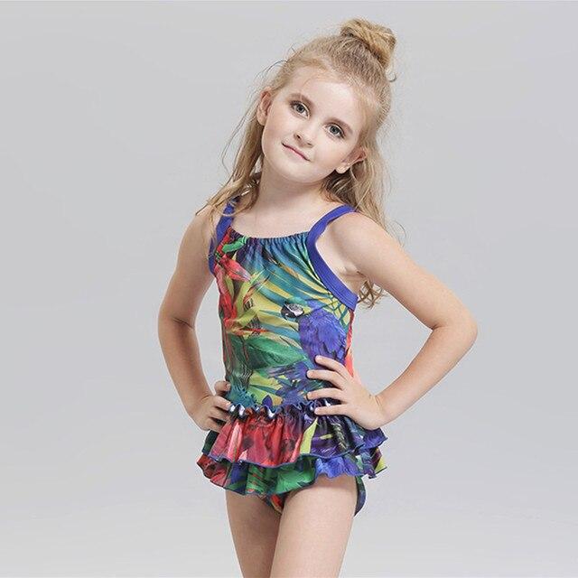 cf11755070b7 girls swim suit 1 15Y New model cute baby girl swimwear dress one ...