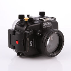 40m/130ft Housing Waterproof Underwater Diving Camera Case for Canon PowerShot G5X 0.75x 67mm lens