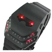 Новые модные цифровые мужские полностью стальные очки спортивные часы с головой змеи мужские военные часы классный светодиодный браслет наручные часы Reloj