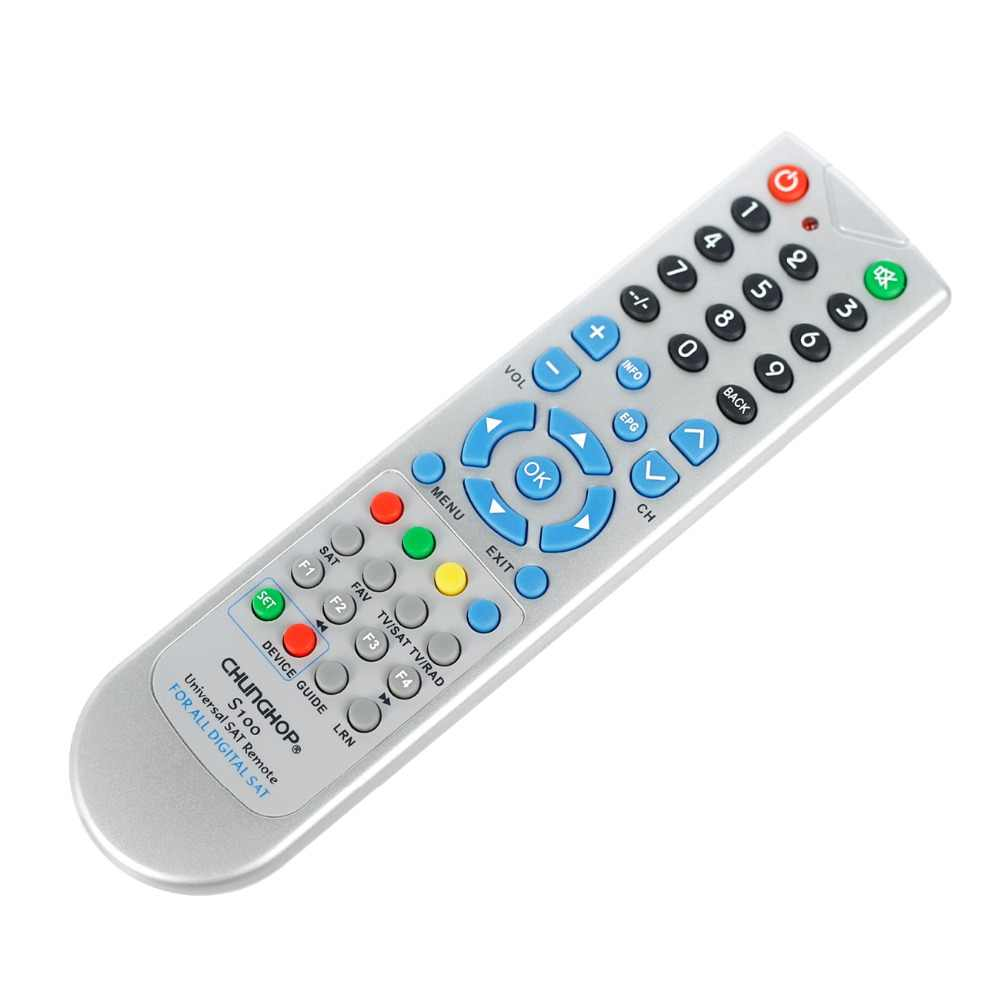 Universal SAT remote control for chunghop S100 all digital sat satellite  receivers controller