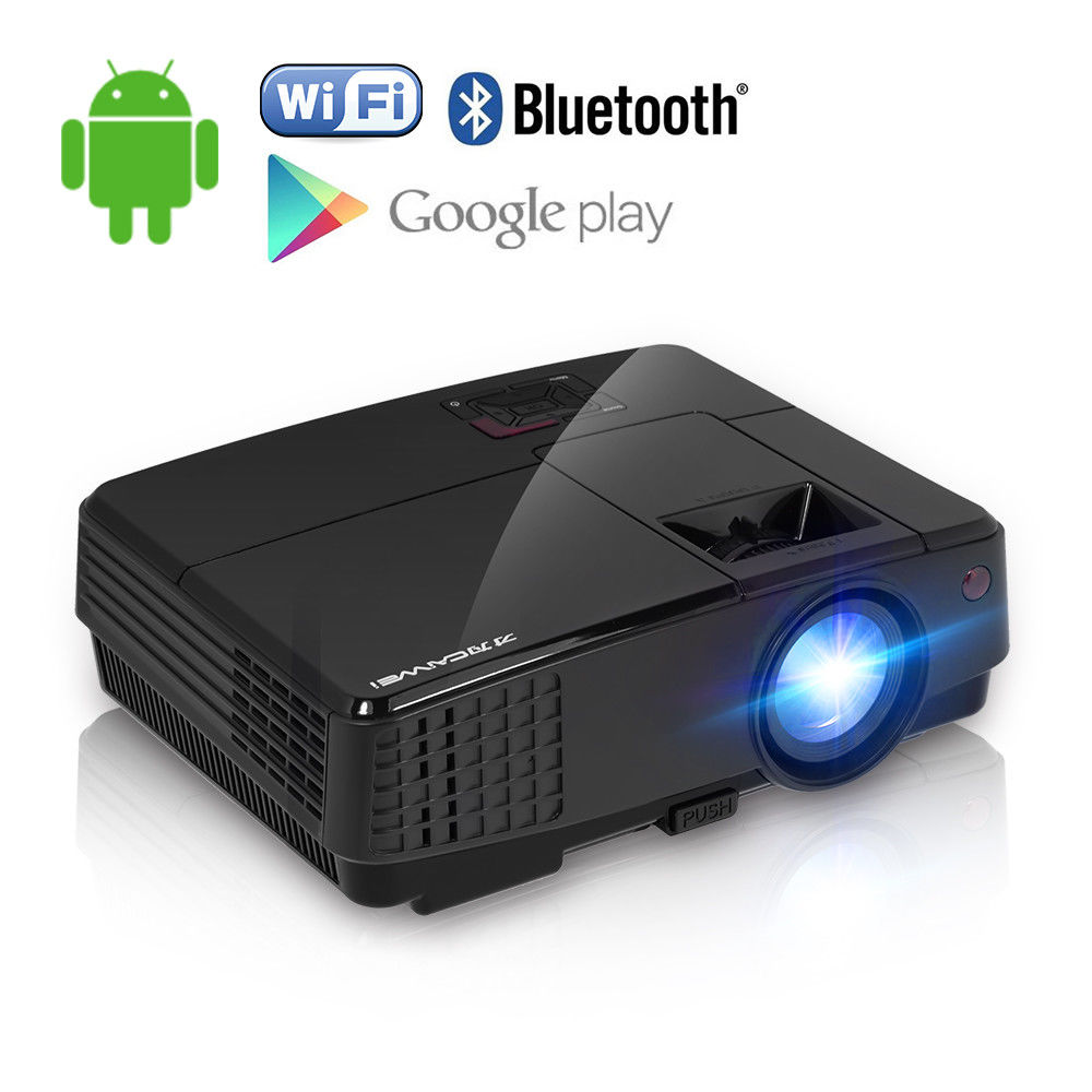 CAIWEI Portable LCD Projector Home Theater LED Beamer Support HD 1080p Video Mov