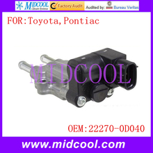 New Auto IAC Idle Air Control Valve use OE NO. 22270-0D040 , 22270-22060 , 22270-22061 , 88969010 , 88969043 for Toyota Pontiac