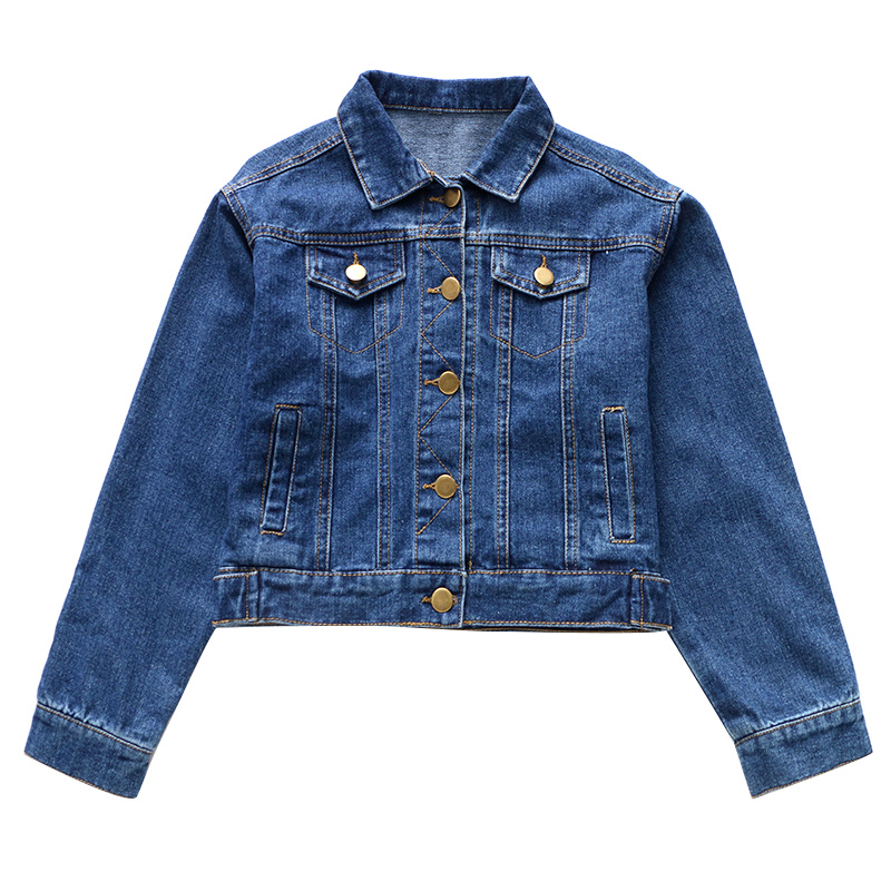 Jeans For Girls Autumn Wear 4 5 6 7 8 9 10 11 12 13 Years Denim Coat Kids Teens Children Clothing Long Sleeve Child Outwear 4 5 6 7 8 9 10 11 12 13 years girls school uniform autumn clothes set kids teens long sleeve shirt pant 2pcs children clothing