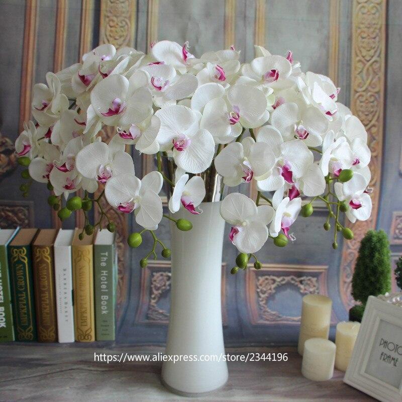 wedding decoration floral10 silk orchids u0026 vase set table artificial floral - Silk Orchids