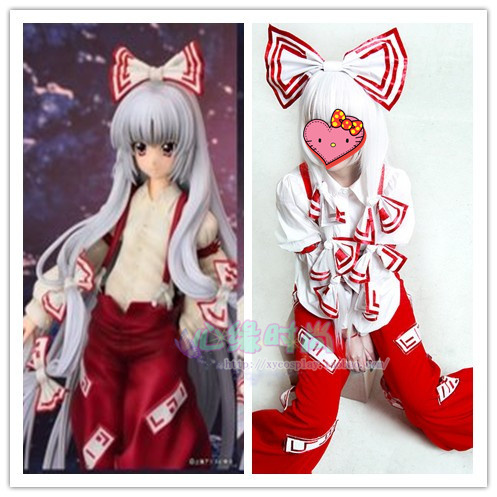 Japanese Hot Anime TouHou Project cosplay Fujiwara no Mokou Huziwara no Mokou cos Halloween party Unisex