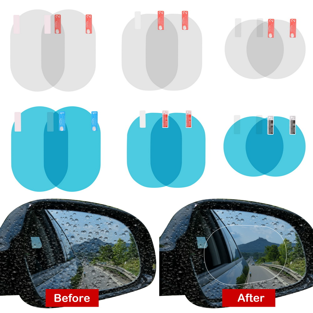 LEEPEE Car Sticker 2PCS/Set Anti Fog Membrane Anti-glare Waterproof Rainproof  Car Mirror Window Clear Film Car Accessories