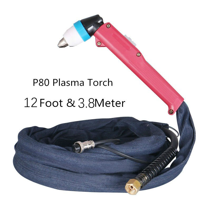 3.8M P-80 Air Plasma Cutting Cutter Torch 12 Foot Pilot Arc Cutting knife tohch complete for Plasma cutting machine good goods цена