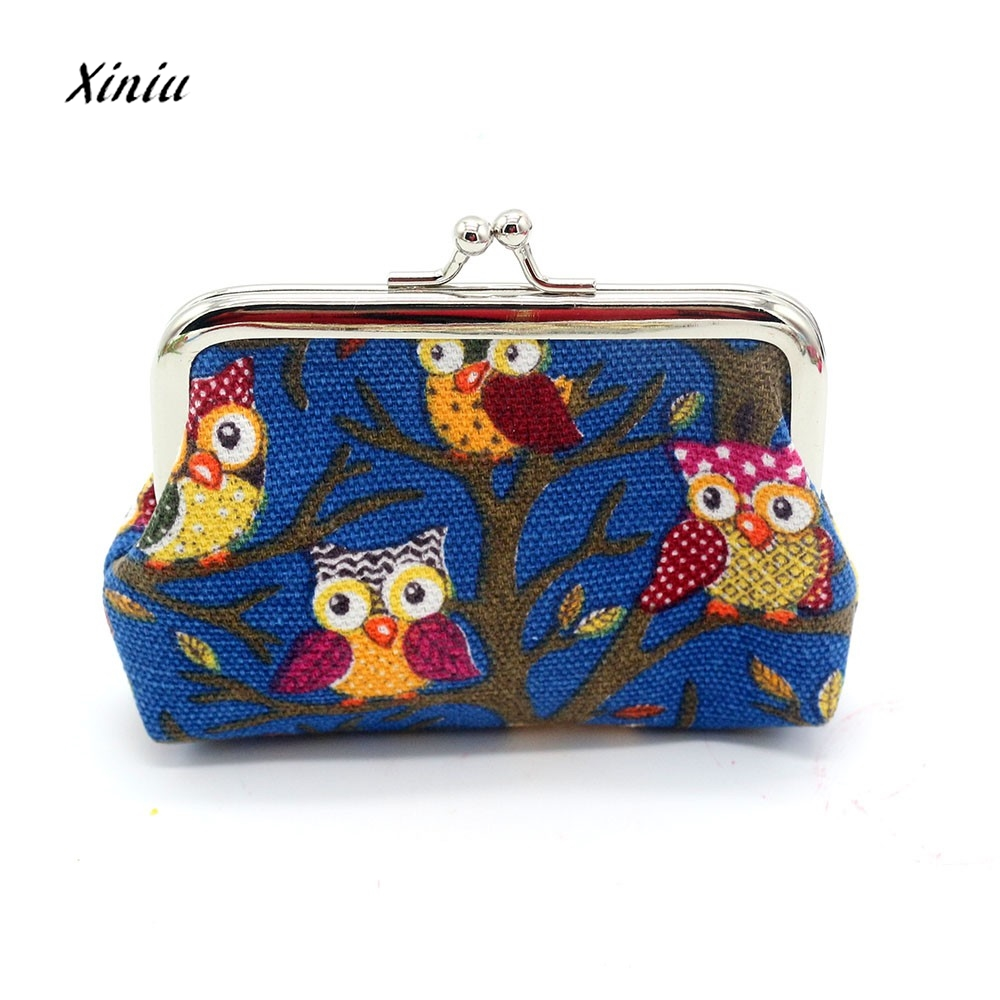 New Design Women Lovely Owl Coin Purse Vintage Style Lady Small Wallet Hasp Purses Girl Money Change Clutch Bag 2 Size thinkthendo 3 color retro women lady purse zipper small wallet coin key holder case pouch bag new design