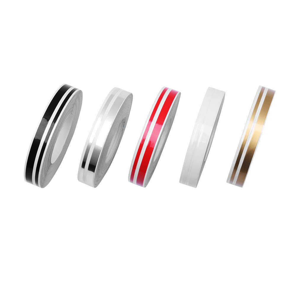 цена 2018 New Fashion 5 Colors 4mm/2mm 9800mm Stripe Pin Stripe Tape Streamline Decals Stickers For Car Styling Double Line Tape