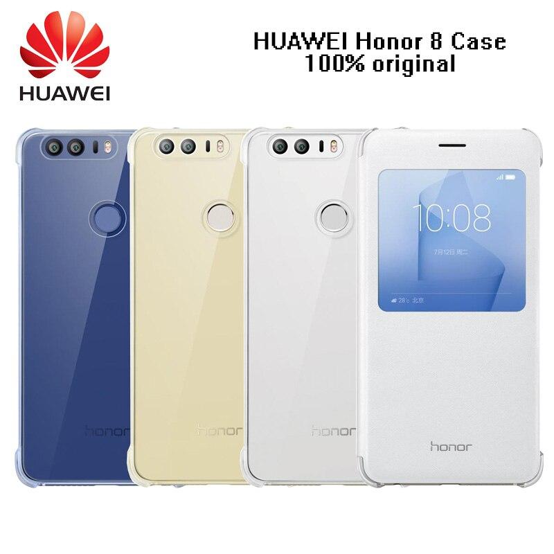 Цена за Оригинальный чехол для HUAWEI Честь 8 умного окна флип чехол Кожаный чехол для Huawei Honor 8 5.2 дюймов Чехлы для Honor 8 охватывает