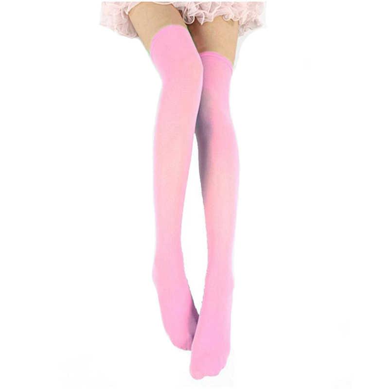 463dd4353c8 ... Women Sexy Warm Thigh High Stockings Over Knee Socks Velvet Calze  Stretch Stocking Temptation Medias Overknee ...
