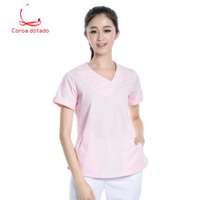 Summer dress slim body doctor take experiment student short sleeve nurse pharmacy beauty salon work clothes