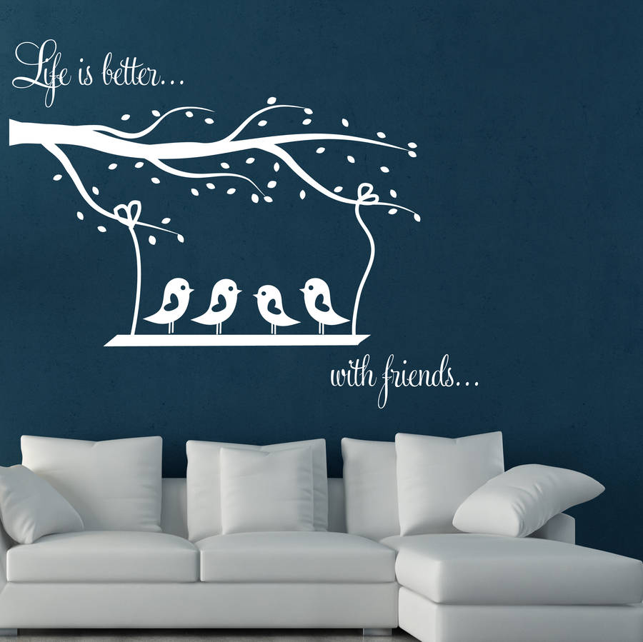 Swing And Birds Wall Stickers Home Decor Living Room Bedroom Baby Nursery Vinyl Wall Decals Nontoxic pvc Sticker Wallpaper ZA731 ...