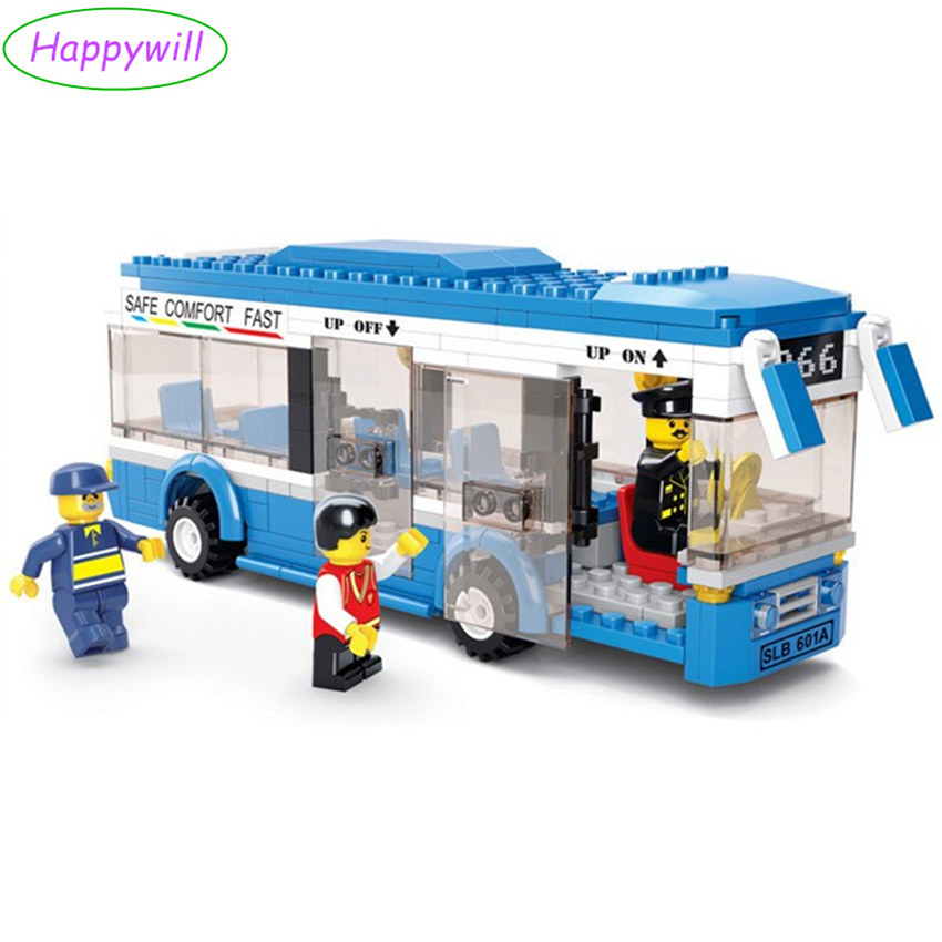 Happywill 0330 Building Blocks City Bus Building Blocks 235+pcs Boys&Girls Enlighten Blocks Educational Bricks Toy For Children 890pcs city police station building bricks blocks emma mia figure enlighten toy for children girls boys gift