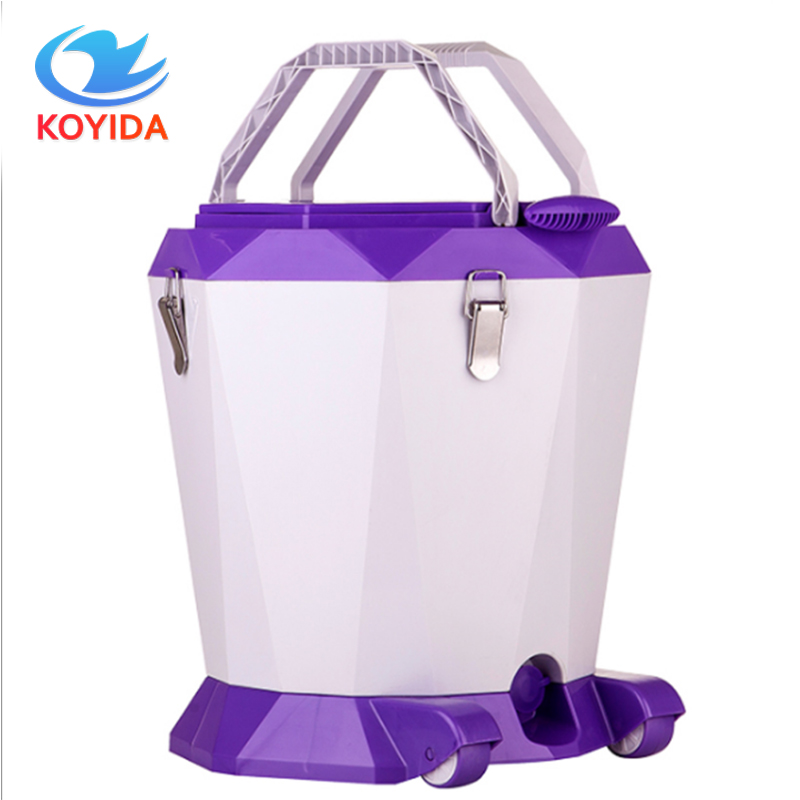 KOYIDA Rolling Magic Spin <font><b>Mop</b></font> Bucket Set Hand Pressure Rotating Floor <font><b>Mop</b></font> Double-Drive Stainless Household Floor Cleaning Tools