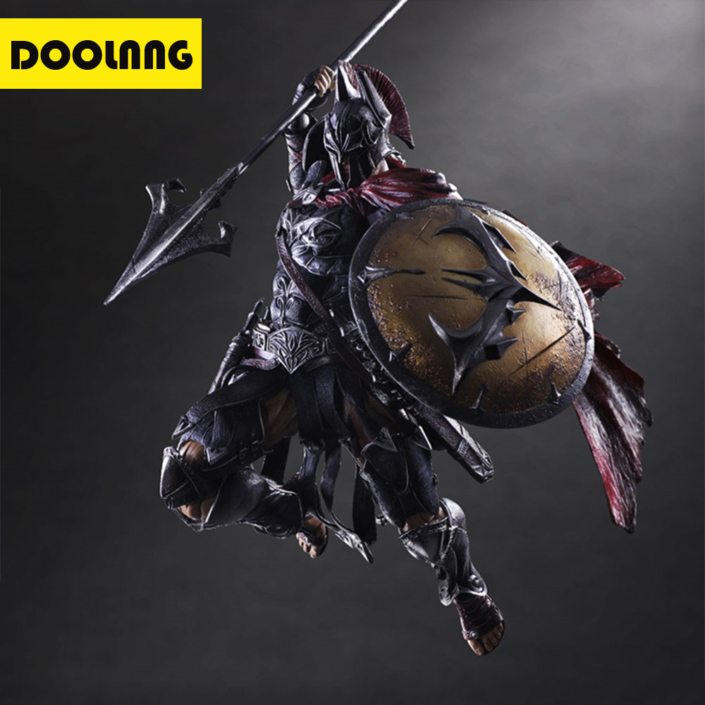 DOOLNNG 25cm Spartan Warriors Play Arts Action Figure Model Toys Collector's Edition Desktop Decorative Ornaments Best Gifts russian decorative arts