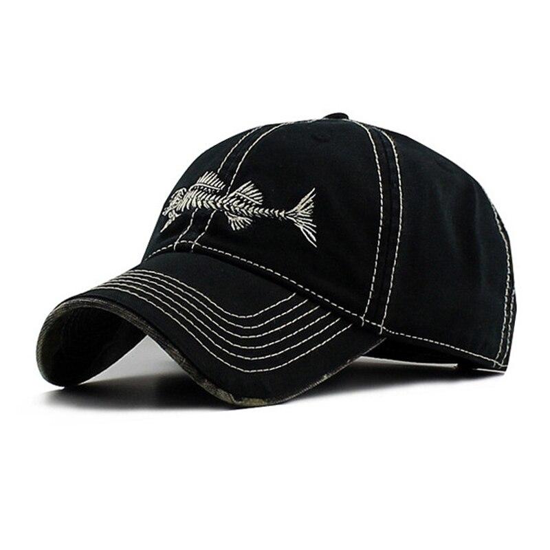 Prix pour 2017 Décontracté En Plein Air Casquette de baseball Hommes Femmes Sport Fishbone Logo Snapback Caps Papa Chapeau Coton Soleil De Mode Chapeaux De Course Pour hommes