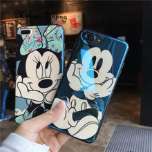 (1 pc) blu-ray bonito minnie mikey caso do mouse para o iphone xs max xr 10 6s 7 8 plus x 6.5 luxo tpu macio telefone capa fundas conque(China)