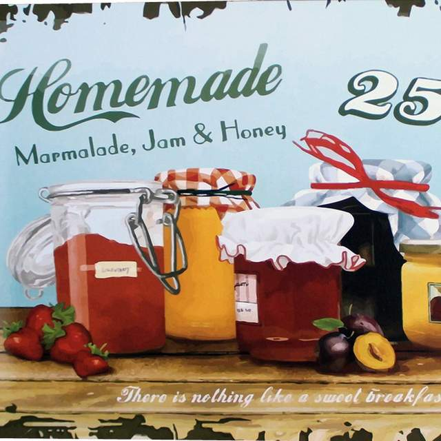 Online Shop HOMEMADE Marmalade Jam and Honey Metal Tin Plaque Vintage Style Sign Food Board for family home picnic LJ1-14 20x30cm A1 | Aliexpress Mobile