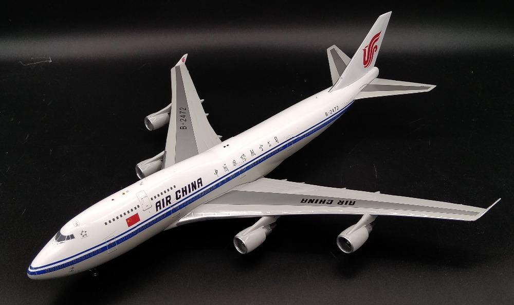IF200 1: 200 China International Airlines  Model B747-400 B - 2472 Alloy Airliner High-end collection model Head of the plane chiaro паула 4 411011706