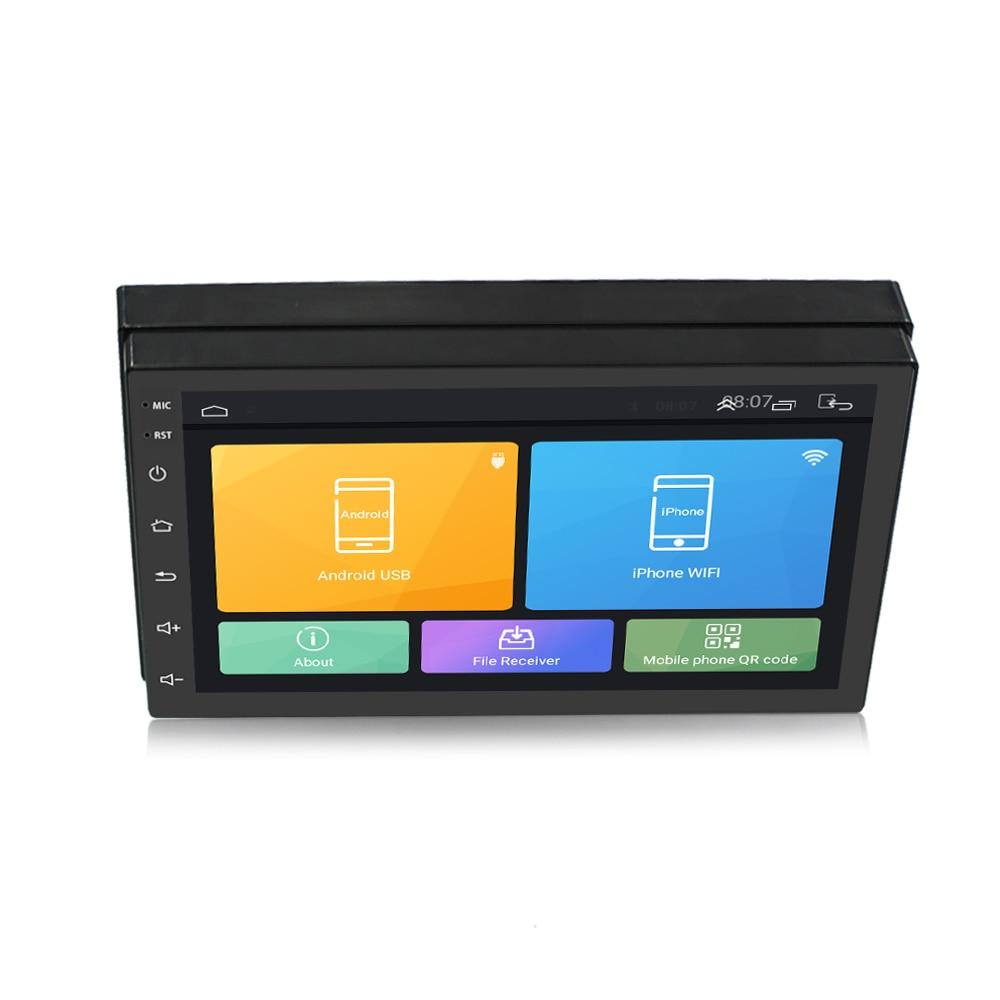 Lecteur multimédia de voiture Podofo 2 din 7 ''radio FM tactile avec Bluetooth GPS WIFI 1024*600 résolution d'écran - 4