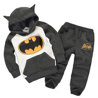 1Pcs Autumn Winter Kids Boys Girls Hoodies Sweatshirts Baby Children Batman Coat Set Cute Superhero Hoodie