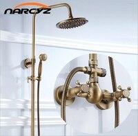 בסגנון אירופאי רטרו עתיק נחושת מקלחת מקלחת מקלחת סט ברז מקלחת האמבטיה XT305